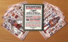 Steampunk Monkey Nation Gallery of Heroes Portfolio by ChetArt, $12.00