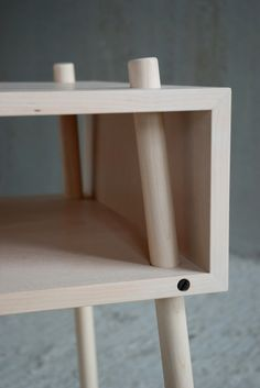 Dowel legs idea for my double-decker kitchen table plan.
