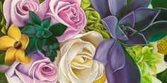 Succulent Romance oil painting by Anna Keay