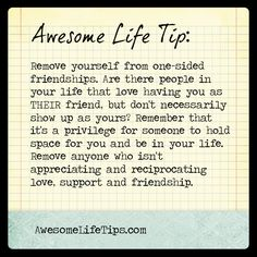 Awesome Life Tip: You Deserve a Two-Sided Relationship >> www.awesomelifetips.com