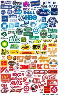 Arcoíris de logos, do azul para o vermelho, aqui estao as cores das marcas, veja isso http://bbus.biz/t/110137