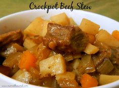 Num's the word: This crockpot beef stew is simple and perfect for cold nights.  It's the best we've ever had!