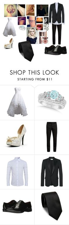 """Leah-Wedding Day"" by thefuturemrsambrose ❤ liked on Polyvore featuring Reception, Allurez, Charlotte Tilbury, Yves Saint Laurent and Massimo Matteo"