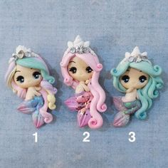 Princess Mermaid Clay for Hair Bow Making. Please read Item Details before purchase. Fimo Disney, Polymer Clay Disney, Polymer Clay Figures, Polymer Clay Dolls, Polymer Clay Creations, Polymer Clay Crafts, Diy Clay, Polymer Clay Princess, Making Hair Bows