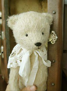 White Teddy Bear by By Nadia Gaynutdinova | Bear Pile