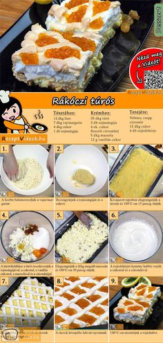Easy Delicious Recipes, Easy Cake Recipes, Dessert Recipes, Yummy Food, Hungarian Recipes, Dessert Drinks, Other Recipes, Food To Make, Food And Drink