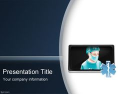 Telemedicine PowerPoint template background for remote assistance in health industry