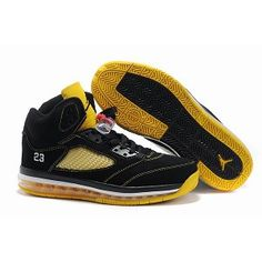 Discount nike air jordan shoes are for sale now! You can buy discount air jordans at low prices and get them in high quality. We would like to recommend Air Jordan Shoes 5 Air Cushion Black Yellow to you, it is only $52.29. Buy from our site: www.jordansale2013.com now!