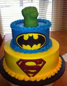 Superhero cake made by Sarah