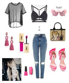 Designer Clothes, Shoes & Bags for Women Msgm, Yves Saint Laurent, Prada, Topshop, Shoe Bag, Polyvore, Pink, Stuff To Buy, Shopping