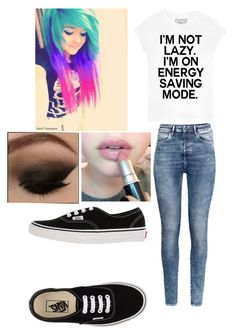 """""""Emo"""" by lea113111 ❤ liked on Polyvore featuring H&M, Vans, women's clothing, women, female, woman, misses and juniors"""