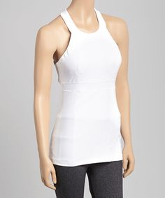 MSP by Miraclesuit White Tummy-Control Racerback Tank | zulily