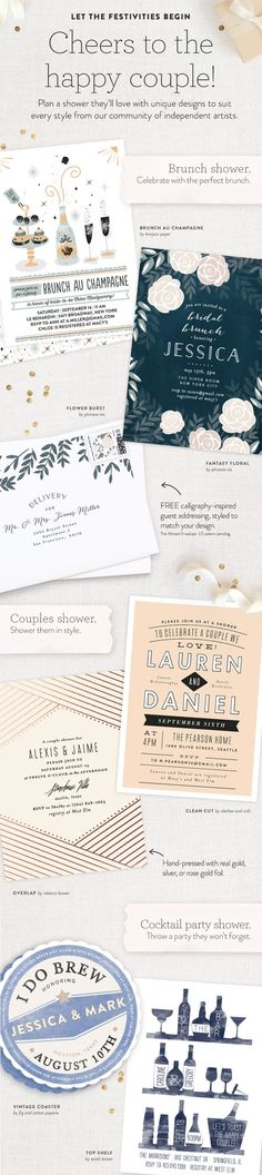 Plan a shower for the happy couple with a unique theme from Minted! Find more bridal shower ideas from our community of artists on Minted.com