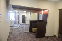We have all sorts of little nooks and crannies to hang out in each of the hallways. Here's an example of one.