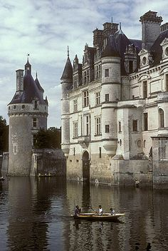 Chenonceau Castle, France. This is the most popular of all castles of the Loire (over 850.000 visitors a year)