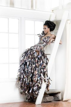Dress made of paper