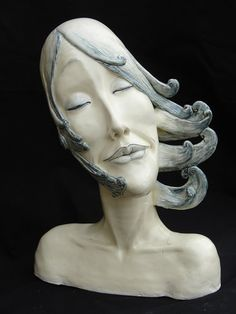 """Please Catch My Dreams"" ceramic, 14""H x 10""W x 8″D, Zhanna Martin"