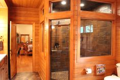 Look at this amazing shower!  The tile is stunning!  I love country homes.   For…