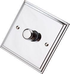 Edwardian Polished Chrome Dimmer Switch