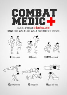 Combat Medic Workout - Tap the pin if you love super heroes too! Cause guess what? you will LOVE these super hero fitness shirts! Army Workout, Military Workout, Military Training, Gym Workout Tips, Sandbag Workout, Superhero Workout, Firefighter Workout, Special Forces Workout, Workout Makeup