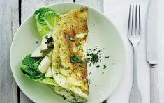 omelet med avokado