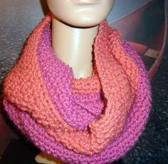 warmer loop koralle pink von häppicäppi auf DaWanda.com