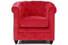 Détendez-vous dans ce charmant fauteuil Chesterfield en velour rouge   http://www.declikdeco.com/p-fauteuil-chesterfield-velours-rouge-44898-2759.html