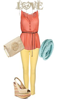 gonna do this look, I just got the yellow jeans!