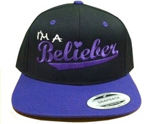 Justin Bieber IM A Belieber Cap Embroidery Flat Bill Snapback Hat New Believe | eBay