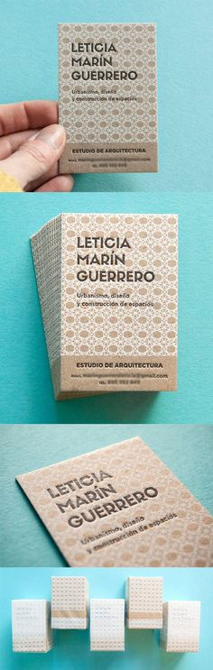 Beautiful Highly Patterned Letterpress Business Card Design