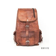 Rucksäcke - Vintage Brown Leder Rucksack LaptopTasche Geschenk - ein…