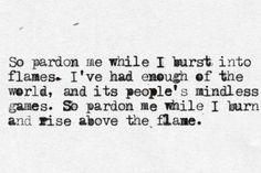 Pardon Me by Incubus. One of my favorite songs & lyrics.
