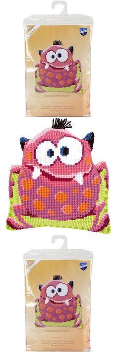Hardanger Kits 158459: Pink Monster I Shaped Cushion Cross Stitch Kit -> BUY IT NOW ONLY: $45.94 on eBay!