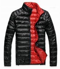 Shiny Glossy nylon wet-look down jacket down coat black/red blue size L-XXL new #SX #DownJacket