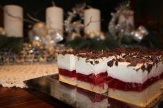 Vocni: jagode-maline s bijelom kremom od jogurta od vanilije