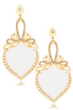 LK DESIGNS WILD White Crystal Earrings