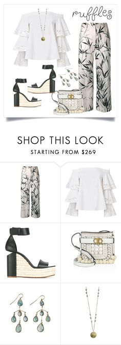 """Sin título #787"" by yblacasa on Polyvore featuring moda, Blumarine, Exclusive for Intermix, Alexander Wang, Tory Burch, Native Gem y ruffledtops"