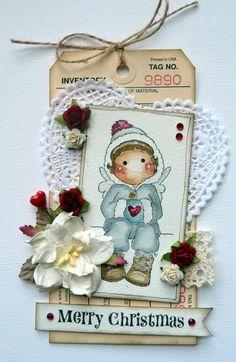 xmas magnolia card