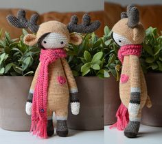 Crochet Pattern Deer Lisa  Lalylala Modification by MyKrissieDolls, €2.25