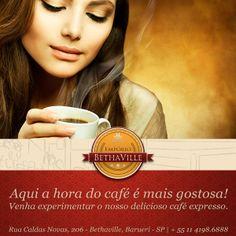 #cafébethaville  Melhor maneira de começar sua tarde: um café expresso especial! Qual acompanhamento você vai escolher?