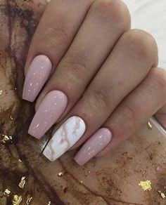 GORGEOUS MARBLE NAILS ART DESIGNS 2019 Seeing enough fresh flower patterns, and I don't want to repeat the elegance of French manicure. Today I recommend a unique and temperamental nail art – marble manicure. Acrylic Nails Coffin Short, Summer Acrylic Nails, Best Acrylic Nails, Coffin Nails, Best Nails, French Manicure Acrylic Nails, Simple Acrylic Nails, Cute Nails, Pretty Nails