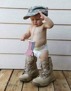 Happy Birthday and God Bless America! Cute Kids, Cute Babies, Baby Kids, Baby Boy, I Love America, God Bless America, Little People, Little Ones, Namaste
