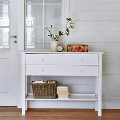 Perrine Solid Pine Console LA REDOUTE INTERIEURS The Perrine is a very practical solid pine console table for the hallway, bedroom or anywhere else in the home! 2 large drawers for storing clothes or. Console Table, Console Cabinet, Hallway Storage, Storage Spaces, Bedroom Table, Bedroom Decor, Kids Bedroom, Narrow Table, Storing Clothes