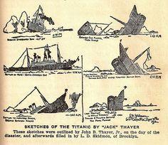 Skitches of titanic