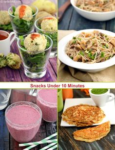 Snacks under 10 minutes recipes, Indian, Veg | Page 1 of 3