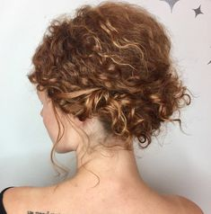 Easy Messy Curly Updo