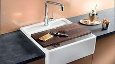 BLANCO PANOR   Sammensæt Evt. Denne Vask I Kridhvid Keramisk Porcelæn Med  Et Armatur I