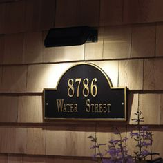 Solar Light for Address Plaques and House Signs by Whitehall