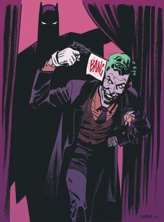 "wwprice1: ""Chris Samnee/Rico collaboration on Batman and Joker. """