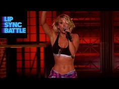 Working toward those abs! Kaley Cuoco: Big Bang Theory Star Channels Ludacris on Lip Sync Battle : People.com